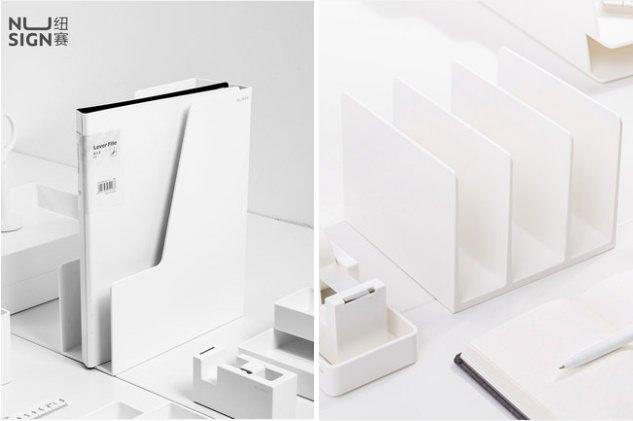 淘寶 白色文件架 檔案架