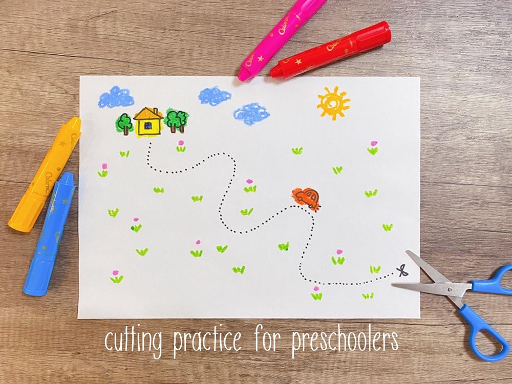 兒童剪紙圖案免費下載列印 cutting practice for preschoolers