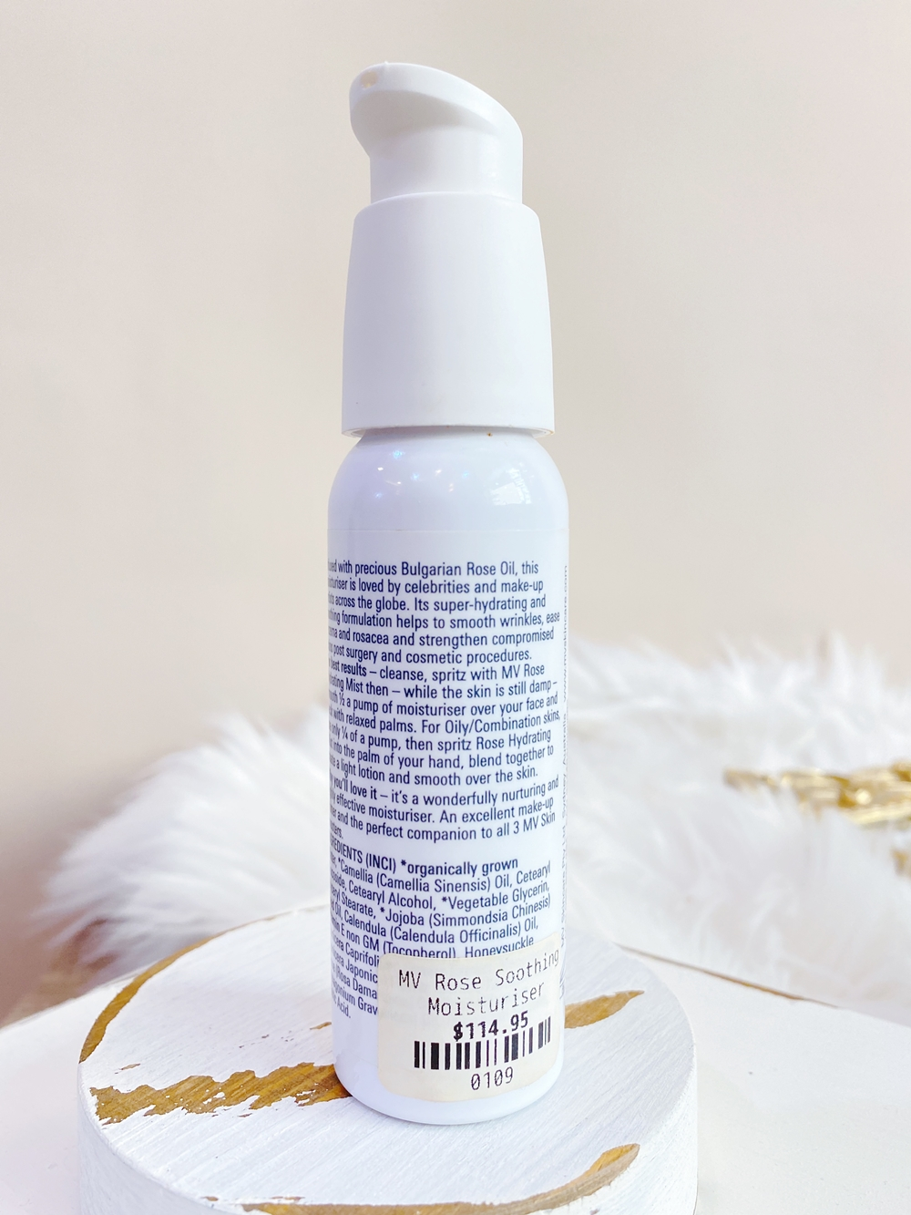 Ingridient of MV Skintherapy Rose Soothing & Protective Moisturiser