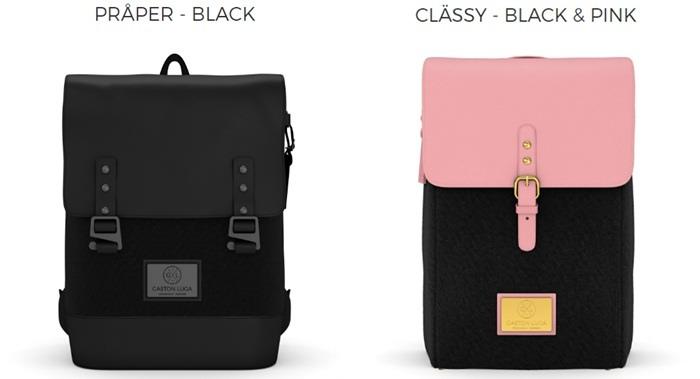 Gaston Luga Backpacks 瑞典設計師 後背包 粉紅色皮革後背包 折扣碼lulula 15%折扣 LululaSu15 (9234)