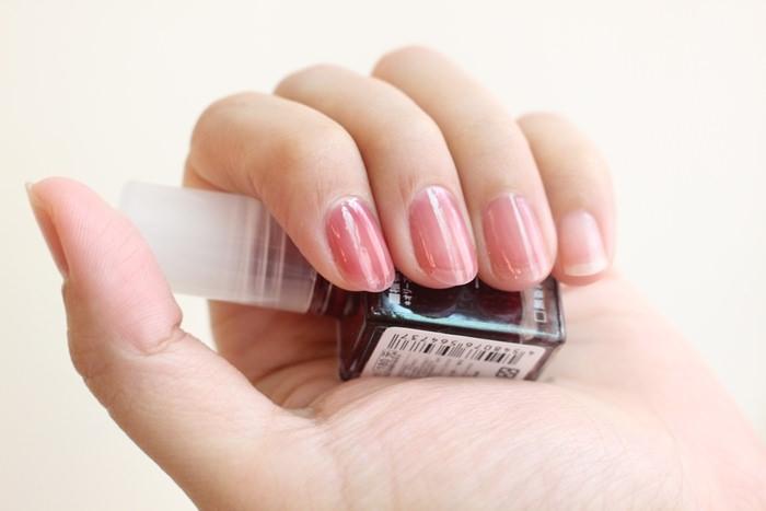 MUJI好物 無印良品血色指甲油 透明紅 clear red 試色 漸層 腮紅指甲 葡萄紅 半透明指甲油 IG大紅 (31)