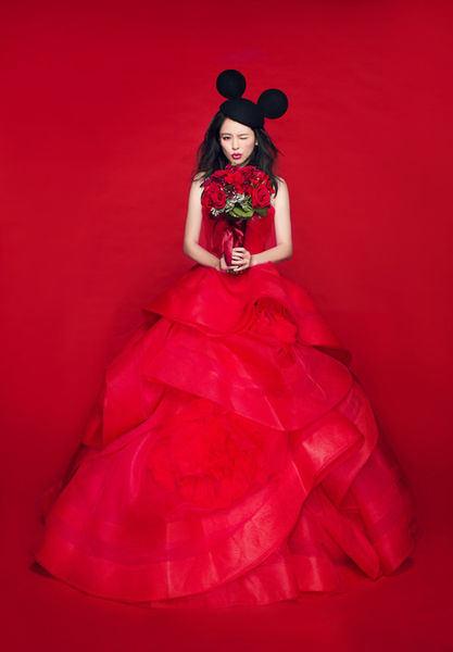 婚紗試穿台北南港JE Wedding-大紅蓬裙禮服-訂婚禮服-白紗 (90)