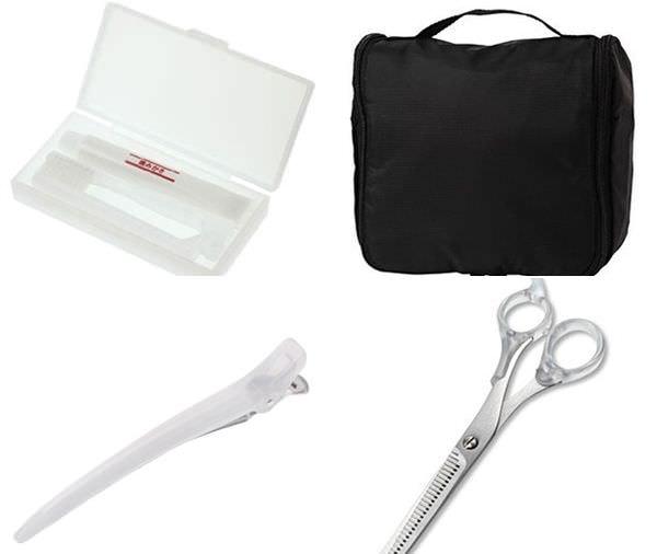 無印良品MUJI美容旅行小物-攜帶型牙刷組-水漾潤澤面膜-蜜粉-髮夾-壁掛式旅行保養品收納袋-打薄剪刀 (100)-tile